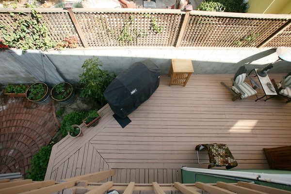 BBQ Deck from Master Bedroom Deck 0120 1